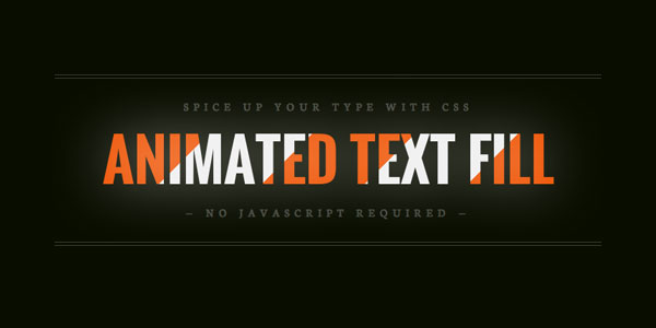 Teaser image for Animated text fill
