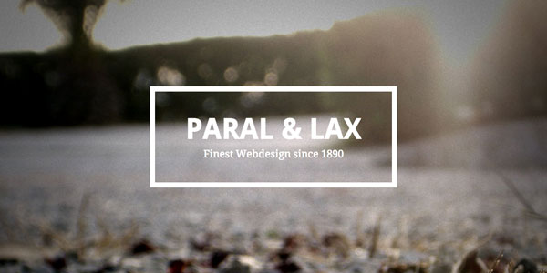 Teaser image for Paral & Lax